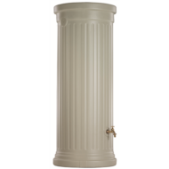 Oszlop fali esővízgyűjtőtartály, 350 l, homokbézs