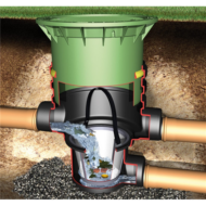 Univerzális szűrőrendszer esővíz gyűjtéshez vagy tóvíz előszűréséhez