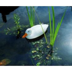 Kerti dekoráció, Fehér kacsa 37 cm