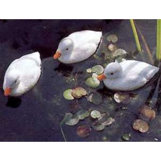 Kerti dekoráció, Fehér kacsa 9 cm