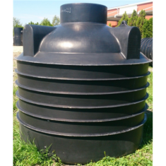 Szennyvízgyűjtő tartály lépésálló tevővel, 3 m3-es, fekete