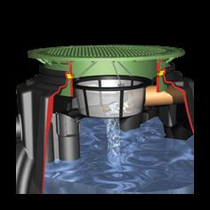 Li-Lo / Platin esővízgyűjtő tartályhoz kiépítő csomag, szűrővel és túlfolyószifonnal