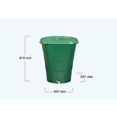 Esővízgyűjtő tartály, szögletes, 203 l, zöld