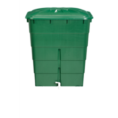 Esővízgyűjtő tartály, szögletes, 300 l, zöld