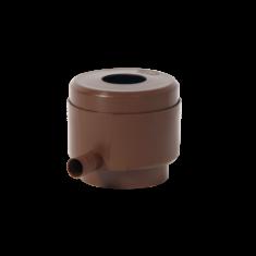 Ereszcsatorna szűrő, önműködő töltő szerkezettel, túlfolyás elleni védelemmel, barna