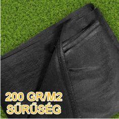 Geotextília 200 gr/m2, 2x10 méter - 20 m2/csomag (fekete)