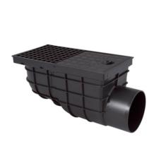 Kültéri víznyelő oldalkifolyású 110 mm