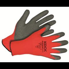 Kerti kesztyű piros-fekete 9-es nylon/latex
