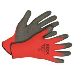 Kerti kesztyű piros-fekete 8-as nylon/latex