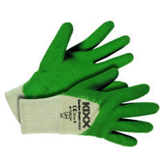 Kerti kesztyű, zöld 6-os pamut/latex