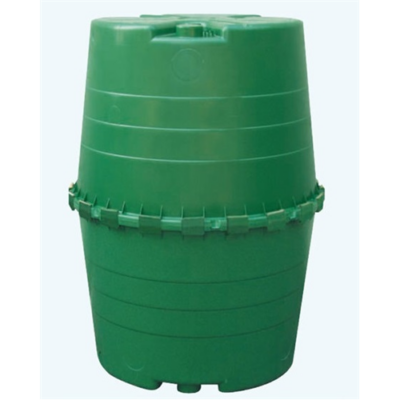 Top esővízgyűjtőtartály, 1300 l, sötétzöld