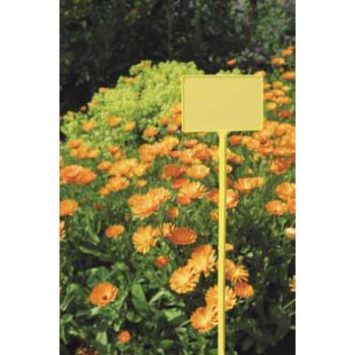 Jeltábla, halvány sárga 5x9 cm