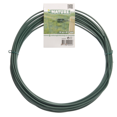 Kötöződrót zöld plastik bevonattal 10m  3 mm !