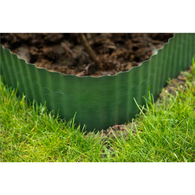 Gyepszegély, zöld 15 cm x 9 m (PE)