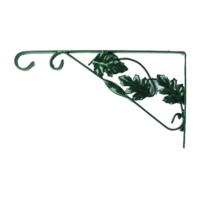 Virágtartó falikar 35 cm, zöld (levéldíszítés)
