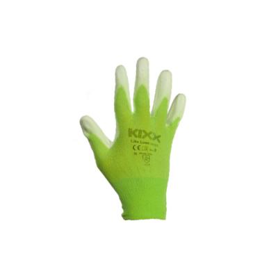 Kerti kesztyű zöld  8-as nylon-polyuretan