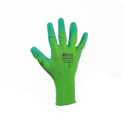 Kerti kesztyű, zöld, 10-es, nylon/latex