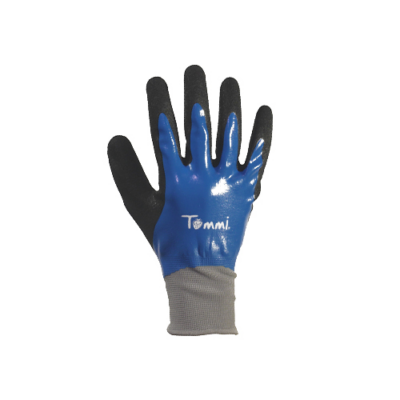 Kerti kesztyű, kék 8-as nylon/latex