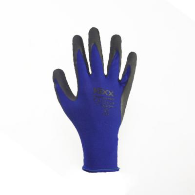 Kerti kesztyű, kék 10-es nylon/latex