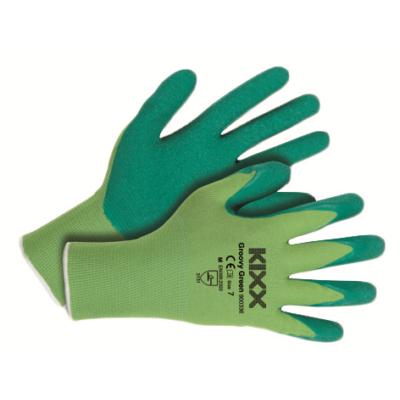 Kerti kesztyű,zöld  7-es nylon/latex