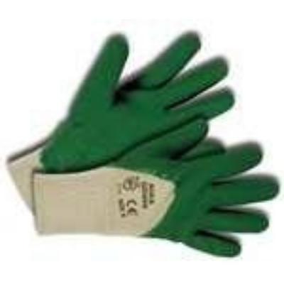 Kerti kesztyű, zöld 8-as pamut/latex