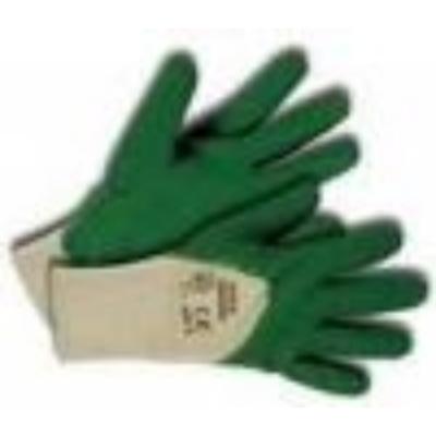 Kerti kesztyű, zöld pamut/latex
