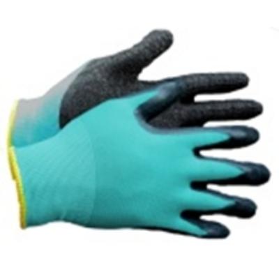 Kerti kesztyű nylon-latex 10-es kék-fekete
