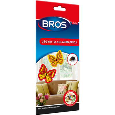 BROS légyfogó ablakba virágos 4 db/csomag