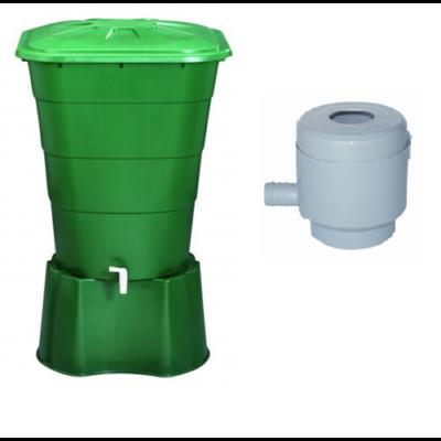 203 literes szögletes esővízgyűjtő tartály csomag