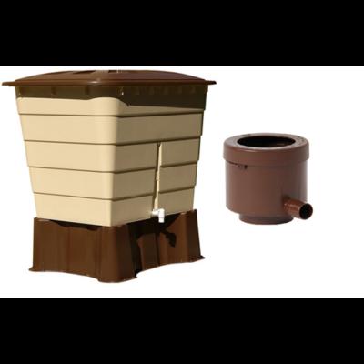 Sahara 520 literes szögletes esővízgyűjtő tartály csomag