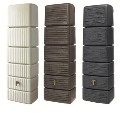 Karcsú fali tartályok, 300-650 l, sima/fa hatású/kő hatású