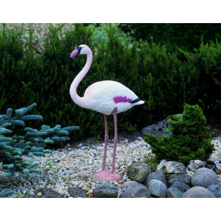 Kerti dekoráció, Álló flamingó 88 cm