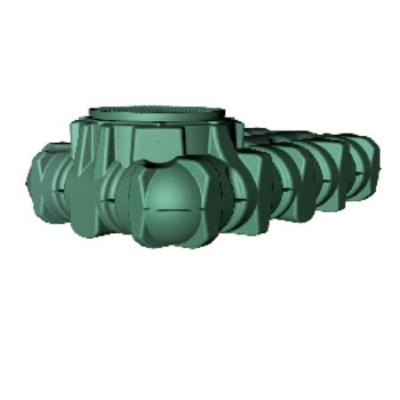 Li-Lo lapos esővízgyűjtő tartály, 1500 l