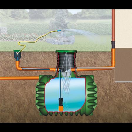 Cristall esővízgyűjtő tartály, 2650 l, Garten-Comfort