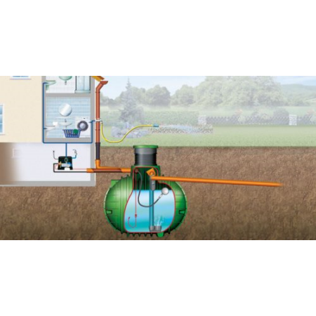 Columbus esővízgyűjtő tartály, 3700 l, Haus-Premium