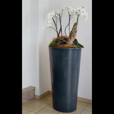Stone virágkaspó, 1,1m magas, láva