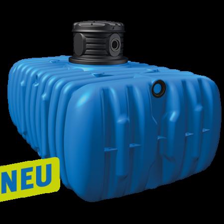 Flat M lapos esővízgyűjtő tartály, 3000 l, kék