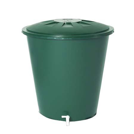 Esővízgyűjtő tartály kerek, 210 l, zöld