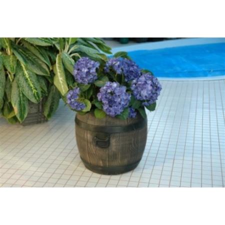 Virágláda hordó mintázatú, 64x59 cm