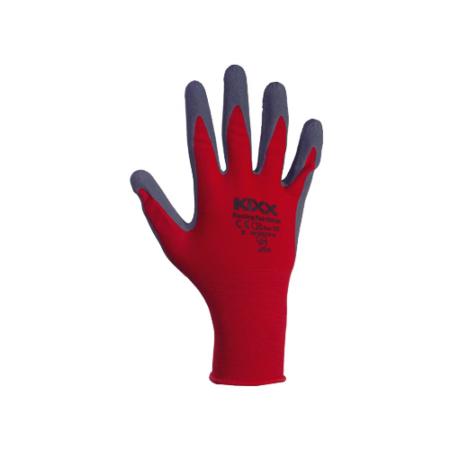 Kerti kesztyű piros-fekete 10-es nylon/latex