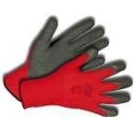 Kerti kesztyű piros-fekete 7-es nylon/latex