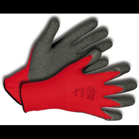 Kerti kesztyű piros-fekete 6-os, nylon/latex