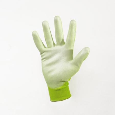Kerti kesztyű zöld 10-es nylon-polyuretan