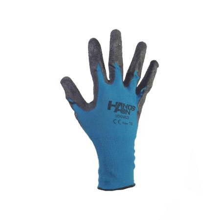 Kerti kesztyű nylon/latex 8-as kék-fekete*