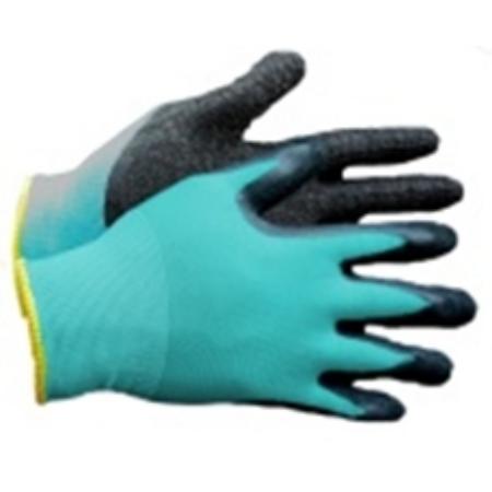 Kerti kesztyű nylon-latex 10-es kék-fekete*