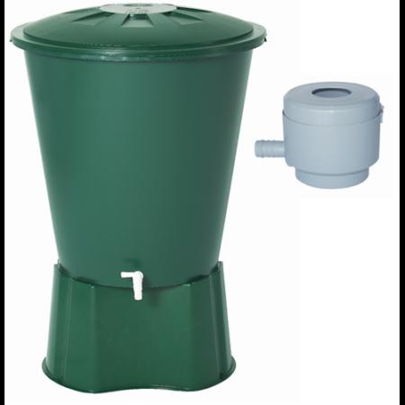 210 literes kerek esővízgyűjtő tartály csomag
