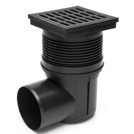 Kültéri víznyelő műanyag ráccsal 110 mm - oldalsó elfolyású