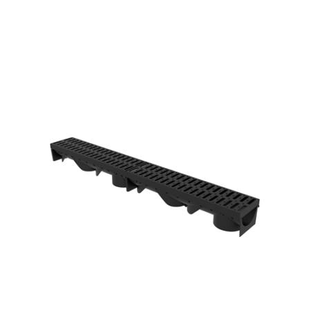 Folyóka 1m-es műanyag (fekete) fedráccsal