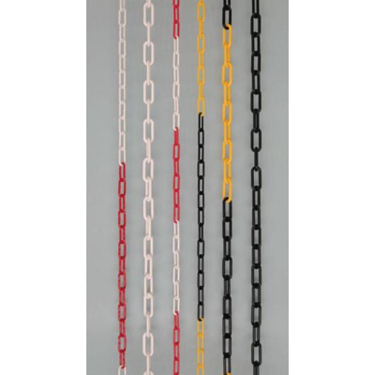 Elkorlátozó lánc, műanyag, piros-fehér 6 mm (30 fm/db)
