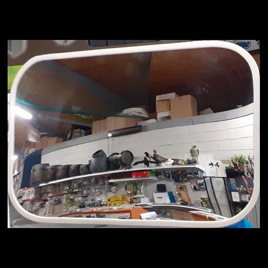 Tükör beltéri keretbe foglalt (40x60cm) IS 4060 fehér keret, fehér hátlap